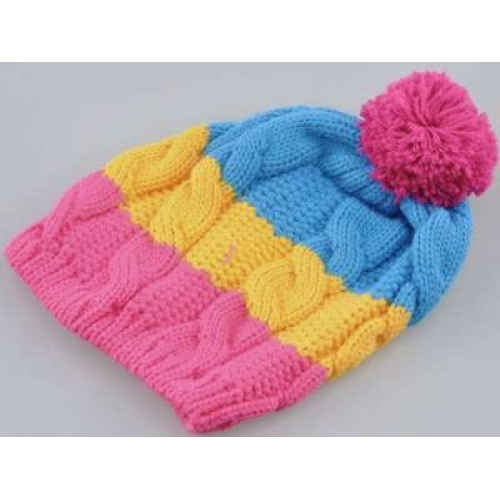Knitting Patterns For Childrens Bobble Hats : Childs Knitted Bobble Hat